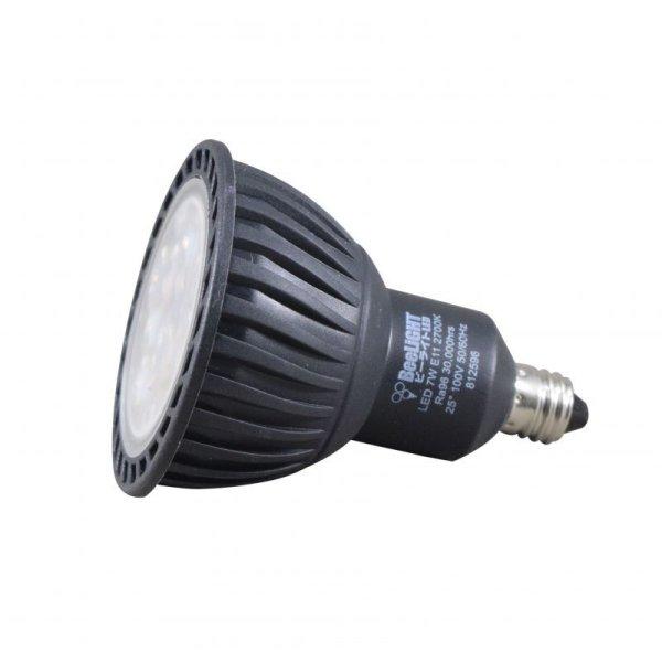 画像3: LED電球 7W 口金E11 非調光 Blackモデル ハロゲンランプ60W相当 昼白色5,000K 中角 JDRφ50タイプ 2年保証
