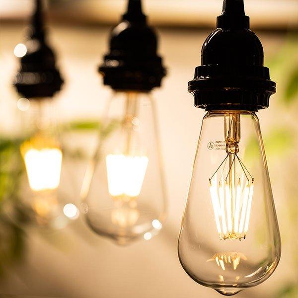 画像4: LED電球 口金E26 エジソン電球 エジソン球 6W 白熱電球60W相当 電球色2700K クリアタイプ 1年保証