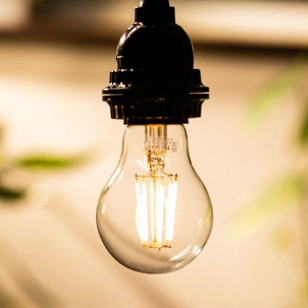 画像4: 【新商品】LED電球 E26 6W LEDフィラメント電球 クリアタイプ 電球色2700K(白熱電球50W相当) 640lm 照射角度360°60Wシリカ電球と同サイズ 1年保証