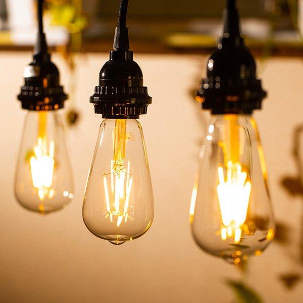 画像3: 【新商品】LED電球 口金E26 エジソン電球 エジソン球 4W 白熱電球30W相当 濃い電球色2100K クリアタイプ 1年保証