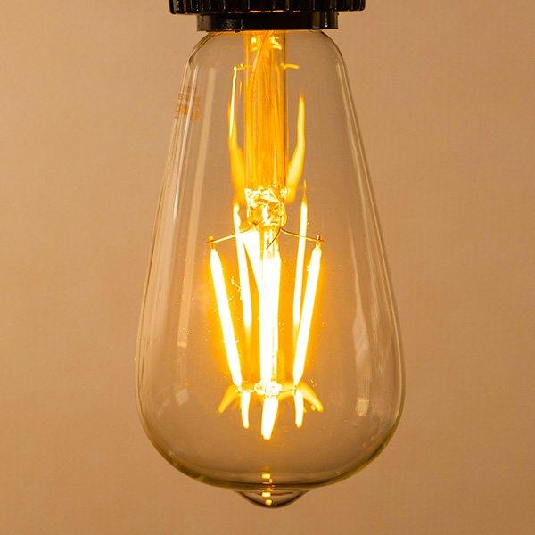 画像4: 【新商品】LED電球 口金E26 エジソン電球 エジソン球 4W 白熱電球30W相当 濃い電球色2100K クリアタイプ 1年保証