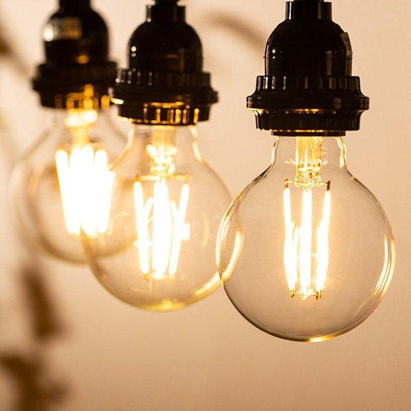 画像3: 【新商品】LED電球 E26 フィラメント電球 エジソン電球 エジソン球 ボール形 6W 810lm 電球色(2700K) 白熱電球60W相当 クリアタイプ 1年保証