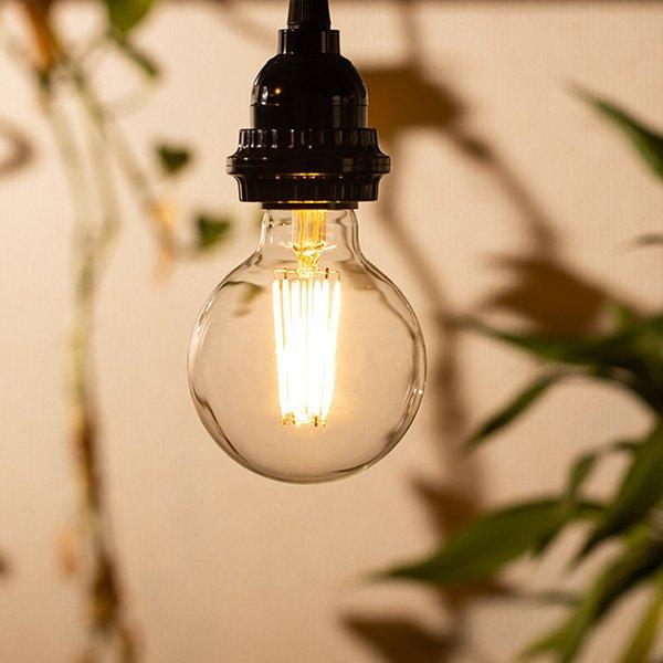 画像4: 【新商品】LED電球 E26 フィラメント電球 エジソン電球 エジソン球 ボール形 6W 810lm 電球色(2700K) 白熱電球60W相当 クリアタイプ 1年保証