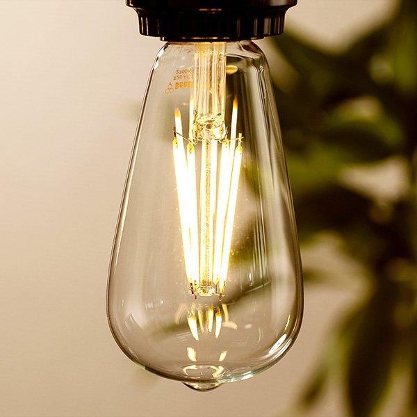 画像3: LED電球 口金E26 エジソン電球 エジソン球 6W 白熱電球60W相当 電球色2700K クリアタイプ 1年保証