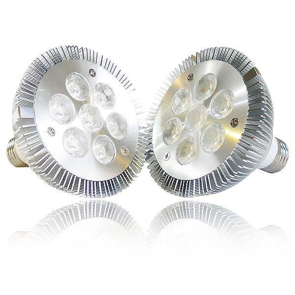 画像2: LED電球 業務用(精肉・鮮魚) 8W 口金E26 高演色Ra92 ビーム球60W-80W相当 混色2900K 照射角45° 2年保証