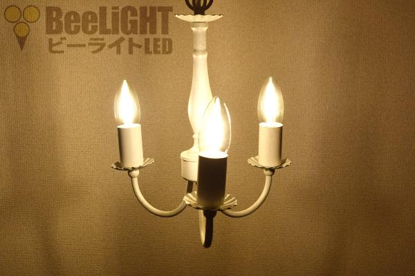 LED電球「BD-0417M-CANDLE」の照度図