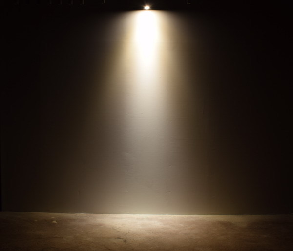 BeeLIGHTのLED電球「BH-0711NC-BK-WW-Ra96」の実際の配光写真。