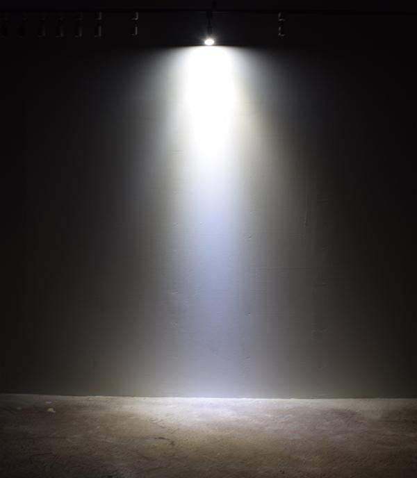 BeeLIGHTのLED電球「BH-0711N-BK-TW」の点灯写真。