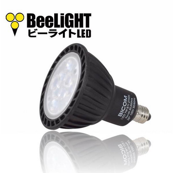BeeLIGHTのLED電球「BH-0711NC-BK-WW-Ra96-3000」の商品画像。