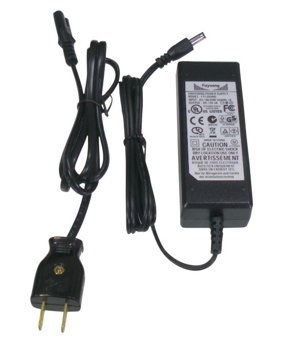 BeeLIGHTのLEDスティック用ACアダブター30W「AC-ADAPTER-DC12V30W」の商品画像。