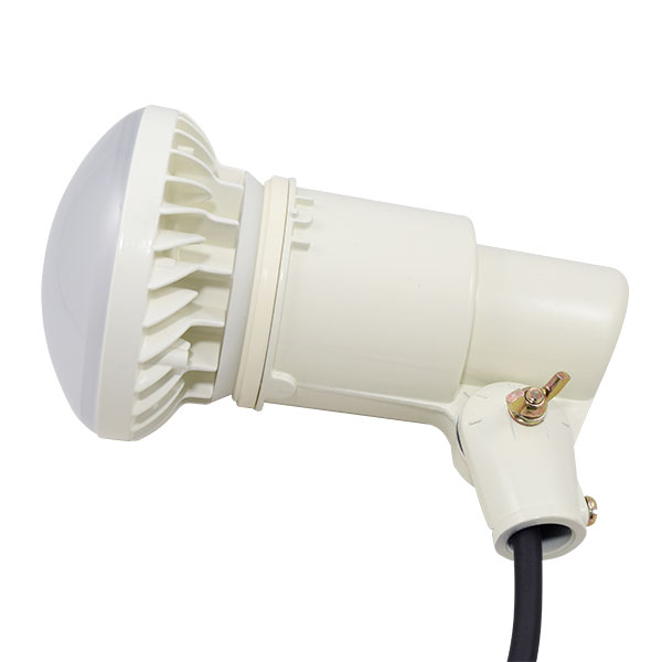 BeeLIGHTのLED電球「BH-1526B-BK-WW-Ra92」の防水器具の使用例。