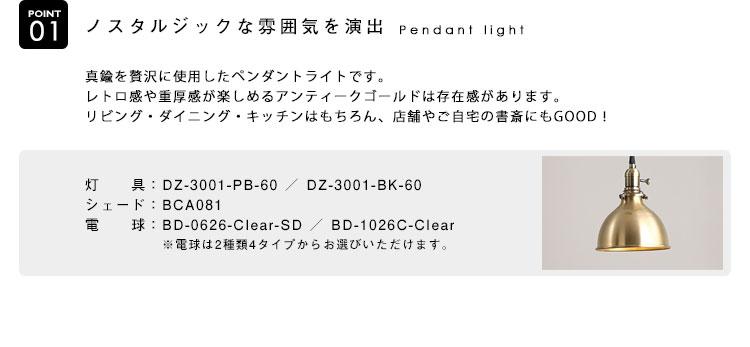 Pendant Light ペンダントライト BCA081