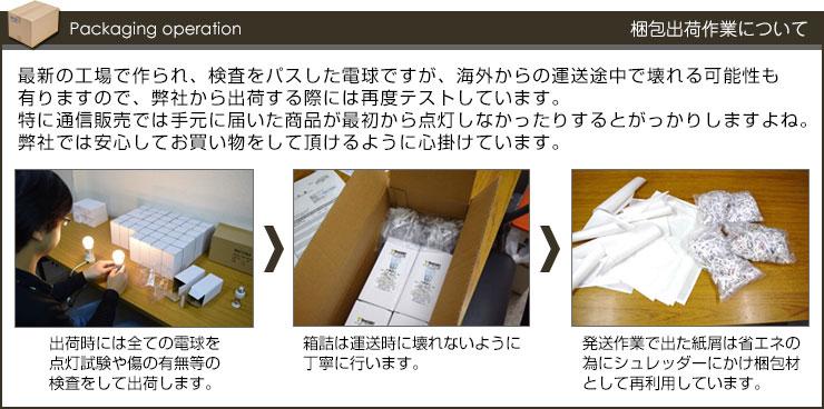 BeeLIGHT製品の出荷作業の様子を写真で紹介。