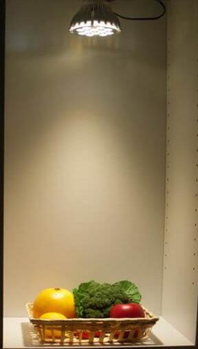 BeeLIGHTのLED電球「BH-2026H5Ra95」で撮影した野菜の写真。